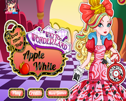 Way Too Wonderland Apple White