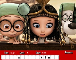 Mr Peabody and Sherman Hidden Letters