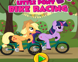 Little Pony Bike Racing
