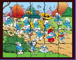 Sort My Tiles The Smurfs